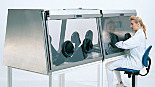 Double Side Full-View Stainless Steel Glove Box Isolators
