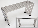 Gowning Bench; 304 Stainless Steel, Recessed-Base Slats, 36