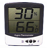 Hygro-Thermometer; Digital, Jumbo Display, Installed with Mounting Bracket