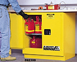 Chemical Storage; Undercounter Cabinet; Flammable Liquid, Sure-Grip Ex, Self-Closing Double Door, Double-Walled Steel, 35
