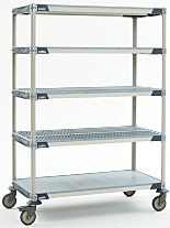 MetroMax iQ Mobile Shelving with Open Bottom Shelf by InterMetro