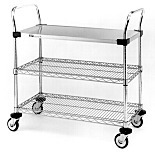 MW Series 400 Stainless Steel Utility Carts by InterMetro
