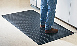 Mat; Anti-Fatigue, Conductive, Diamond Plate, 3' x 5', 9/16