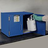 Chemical Storage; Benchtop Cabinet; Corrosive Liquid/Acid, Manual Double Door, Wood Laminate, 24