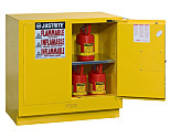 Chemical Storage; Gray, Undercounter Cabinet, Sure-Grip Ex, Manual Double Door, Double-Walled Steel, 35