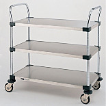 MW Series 200 Stainless Steel Utility Carts by InterMetro