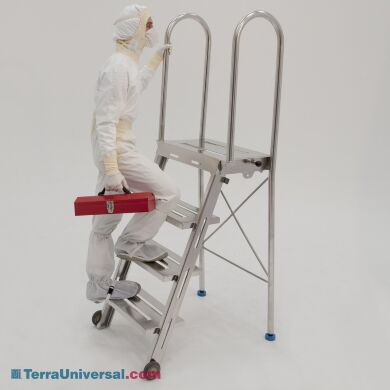 Miraculous Biosafe Heavy Duty Folding Cleanroom Step Ladder And Work Platform Creativecarmelina Interior Chair Design Creativecarmelinacom