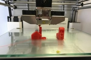 3-dimensional printer creating object made of plastic