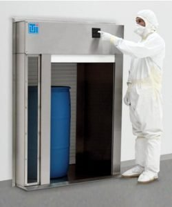 Terra Roll-Up Pass-Through Chamber to transfer large objects into a controlled environment.