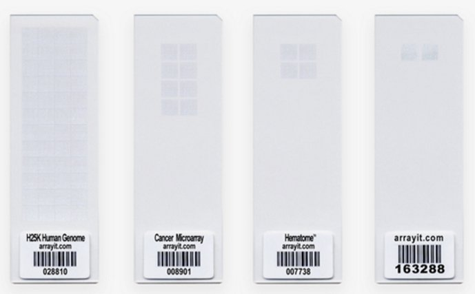 Microarray slides (Arrayit Corp).